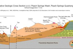 Cross section of Peach Springs Wash