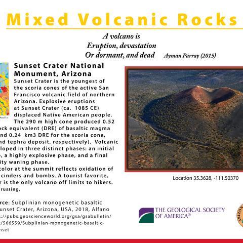 Sunset Crater postcard