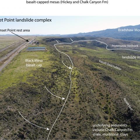 Sunset Point Rest Area compound landslide