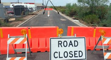 Earth Fissure closes road in Apache Junction